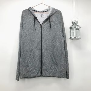 Men's Nike Dri-Fit Zip Up Heathered Grey Hoodie
